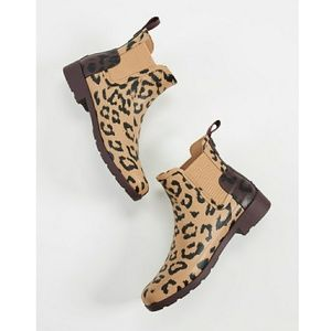 New HUNTER Refined Chealsea Leopard Short Boot